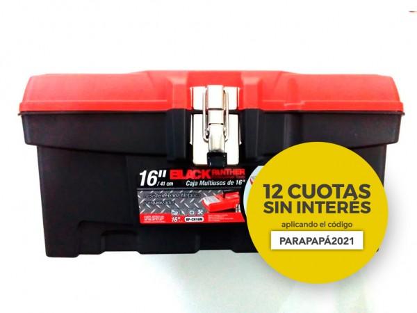 "CAJA PLASTICA 16"" PP TRABA METALICA DDP - BLACK PANTHER - FMT - NAKAMA"