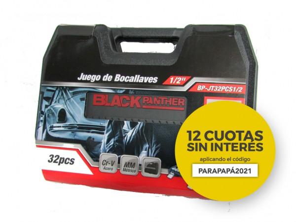 "JGO.32 PZAS.LLAVES TUBO 1/2"" DDP - BLACK PANTHER - FMT - NAKAMA"