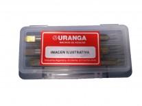 MACHO ACERO RÁPIDO (HSS) ROSCA MÉTRICA GRUESA (M) 6.0x1.00 KIT CONOS - URANGA