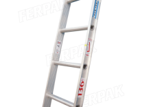 ESCALERA ALUMINIO SIMPLE  2.4Mt   CARGA 136Kgs - FERPAK ESCALERAS