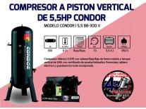 COMPRESOR 5.5HP 300Lts.TRIFAS.CORREA (B/B) - CONDOR
