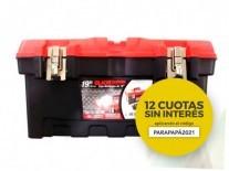 "CAJA PLASTICA 19"" PP TRABA METALICA DDP - BLACK PANTHER - FMT - NAKAMA"
