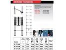 ESCALERA PLEGABLE TELESCÓPICA ALUMINIO 12 ESCALONES 3.8M - BLACK PANTHER - FMT - NAKAMA